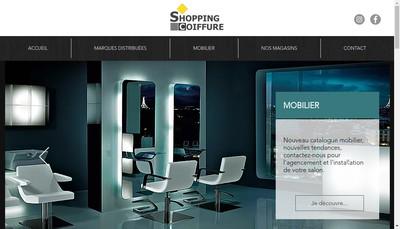 Site internet de Shopping Coiffure
