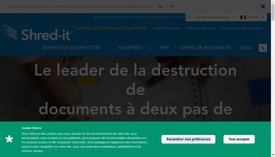 Site internet de Shred-It France