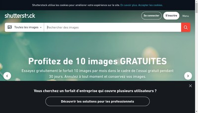 Site internet de Shutterstock (France)