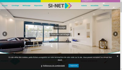 Site internet de Si Net SARL