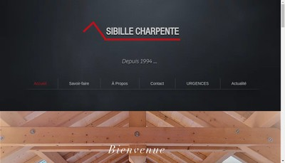Site internet de Sibille Charpente