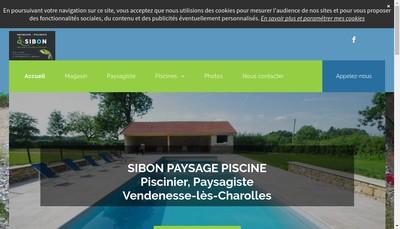 Site internet de Sibon Paysage Piscine