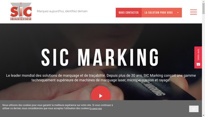 Site internet de Sic Marking