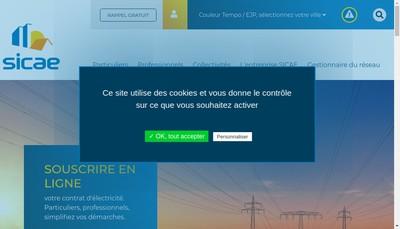 Site internet de Sicae de la Somme et du Cambraisis