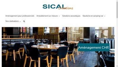 Site internet de Sical Creations