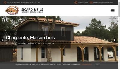 Site internet de Sicard et Fils