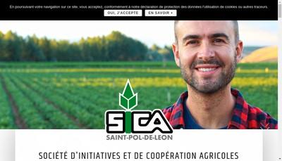 Site internet de Societe Initiatives et Cooperation Agricoles