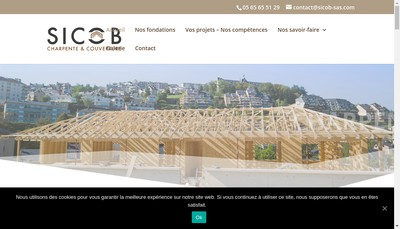 Site internet de Fabre Sicob