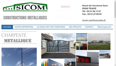 Site internet de SA des Etablissements Sicom