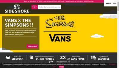 Site internet de Side Shore