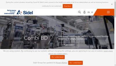 Site internet de Sidel Holding