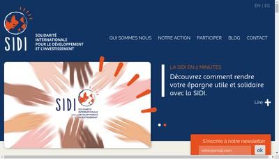 Site internet de Solidarite Internat Develop Invest