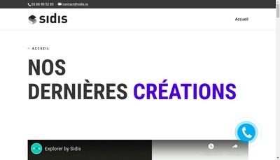 Site internet de Sidis