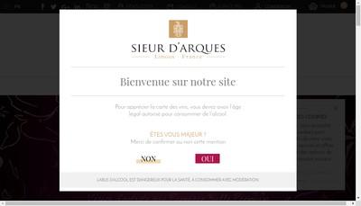 Site internet de Sieur d'Arques