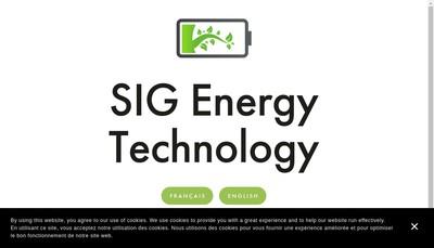 Site internet de Sig Tech
