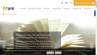 Site internet de Pmb Services
