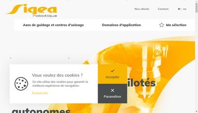 Site internet de Sigea