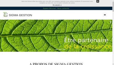 Site internet de Sigma Gestion