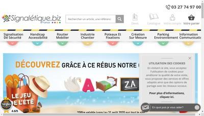 Site internet de Signaletique - Biz