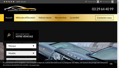 Site internet de Signature Auto