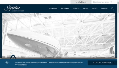 Site internet de Signature Flight Support Paris