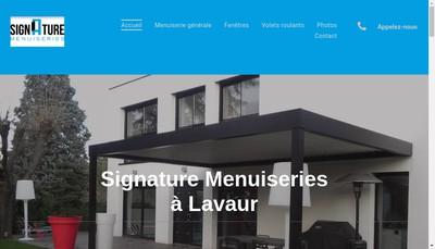 Site internet de Signature Menuiserie