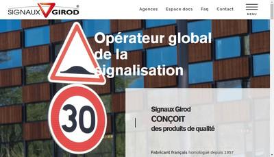 Site internet de Signaux Girod