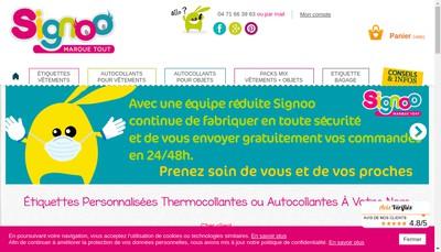 Site internet de Signoo