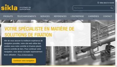 Site internet de Sikla France SARL