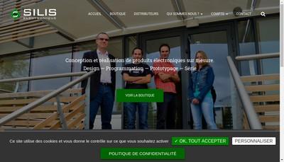 Site internet de Silis Electronique