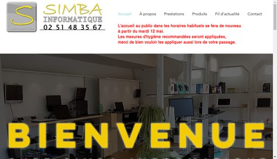 Site internet de Simba Informatique