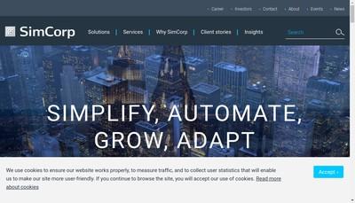 Site internet de Simcorp France