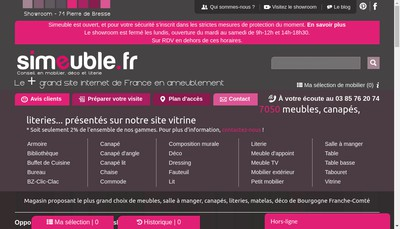 Site internet de Simeuble
