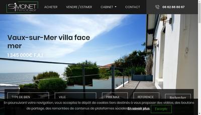 Site internet de Simonet Immobilier