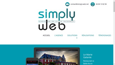 Site internet de Simply Web