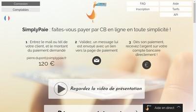 Site internet de Simplypaie.fr