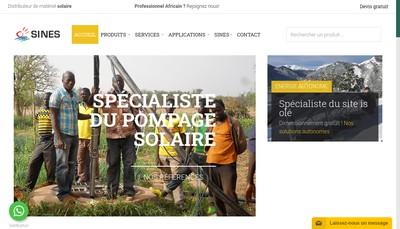 Site internet de Sines France Sines It Solutions