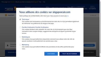 Site internet de Singapore Airlines Limited