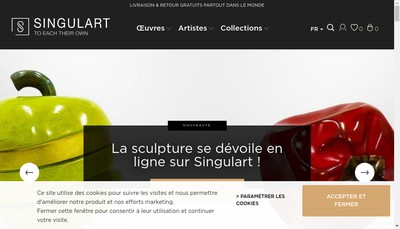 Site internet de Singulart