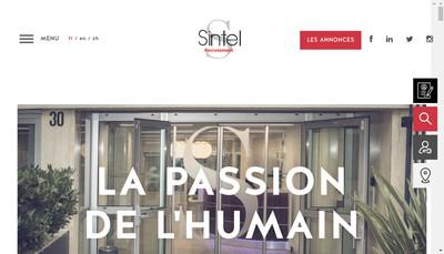 Site internet de Sintel Conseil