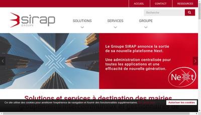 Site internet de Groupe Sirap