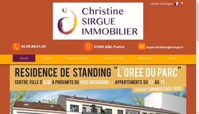 Site internet de Christine Sirgue Immobilier