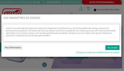 Site internet de Sissel France