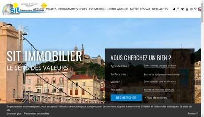 Site internet de SIT IMMOBILIER