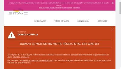 Site internet de Sitac Bus