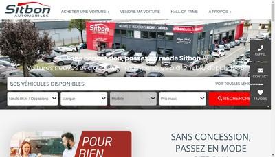 Site internet de Sitbon Automobiles