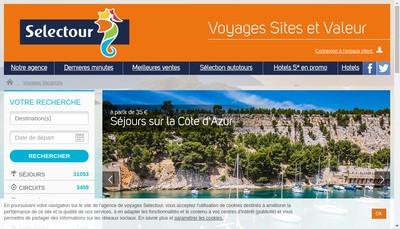Site internet de Voyages Sites et Valeur