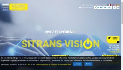 Site internet de Sitrans Transports
