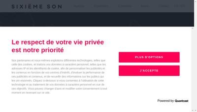 Site internet de Sixieme Son Communication