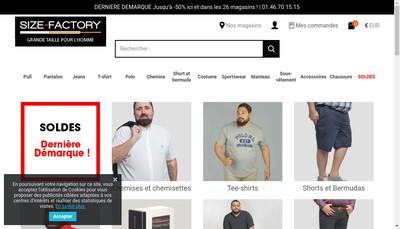 Site internet de Size Factory